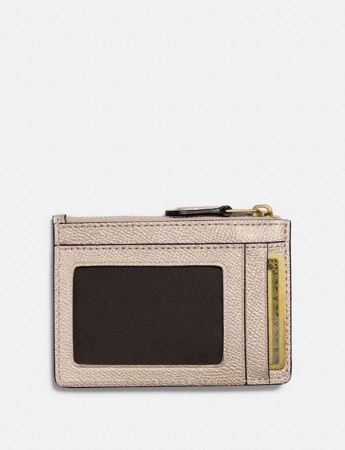 Coach Mini Skinny Id Case Platinum/Light Gold Gifts For Her Under £100 Alternate View 1