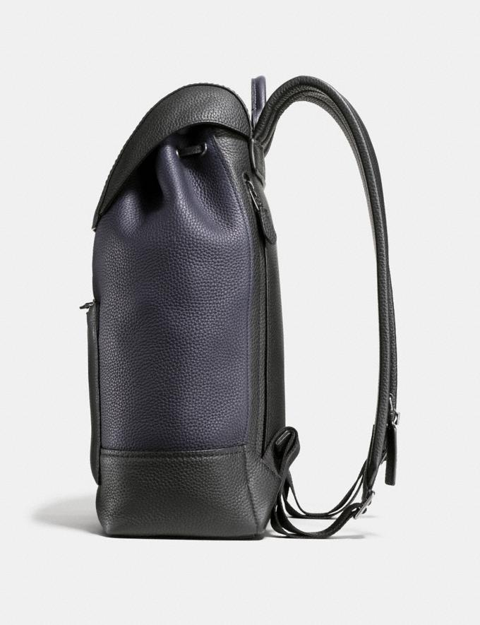 Coach Manhattan Backpack in Colorblock Midnight/Black Men Bags Backpacks Alternate View 1