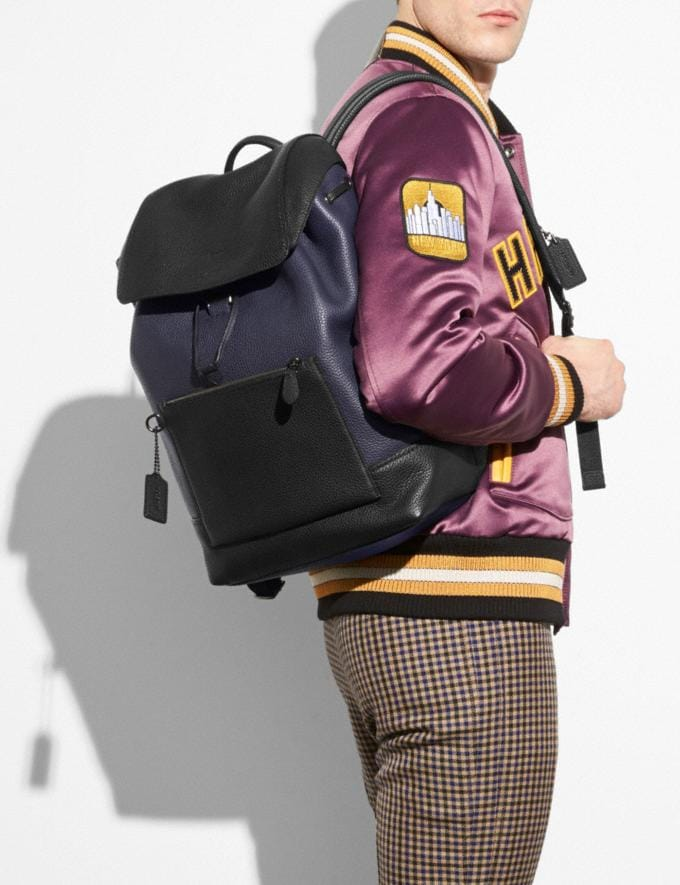 Coach Manhattan Backpack in Colorblock Midnight/Black Men Bags Backpacks Alternate View 3