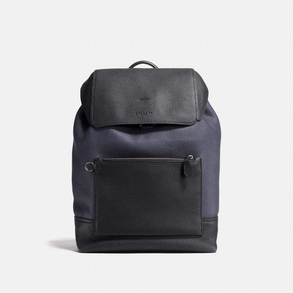 MANHATTAN BACKPACK IN COLORBLOCK LEATHER