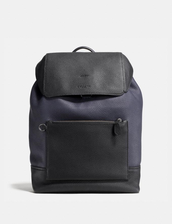 Coach Manhattan Backpack in Colorblock Midnight/Black Men Bags Backpacks