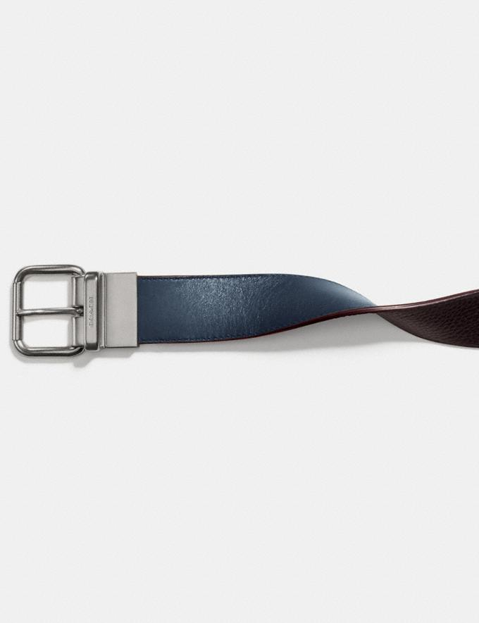 Coach Harness Buckle Cut-To-Size Reversible Belt, 38mm Denim/Chestnut Gift For Him Under €250 Alternate View 1
