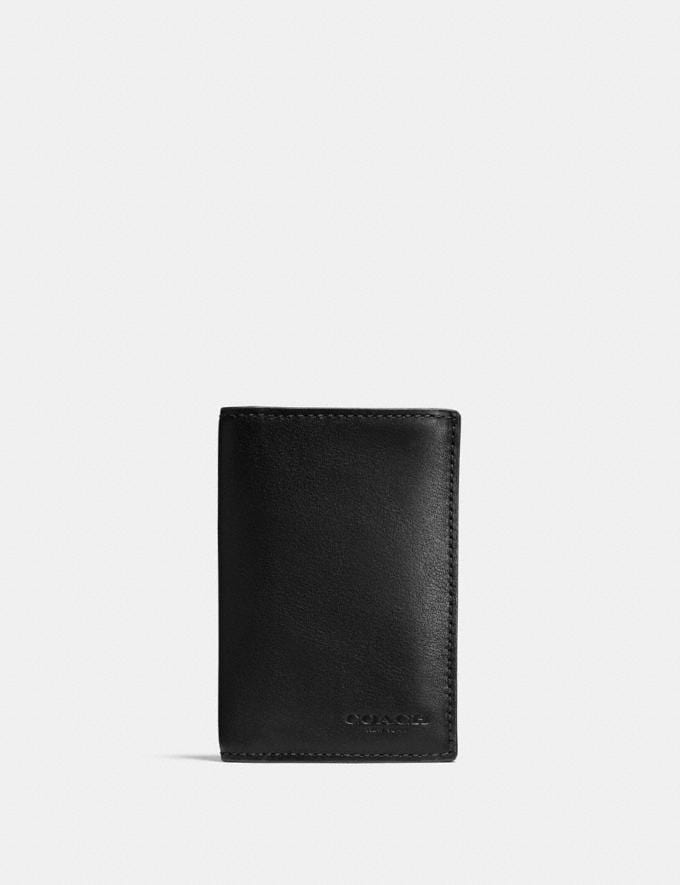 Coach Bifold Card Case Black Personalise Personalise It Monogram For Him