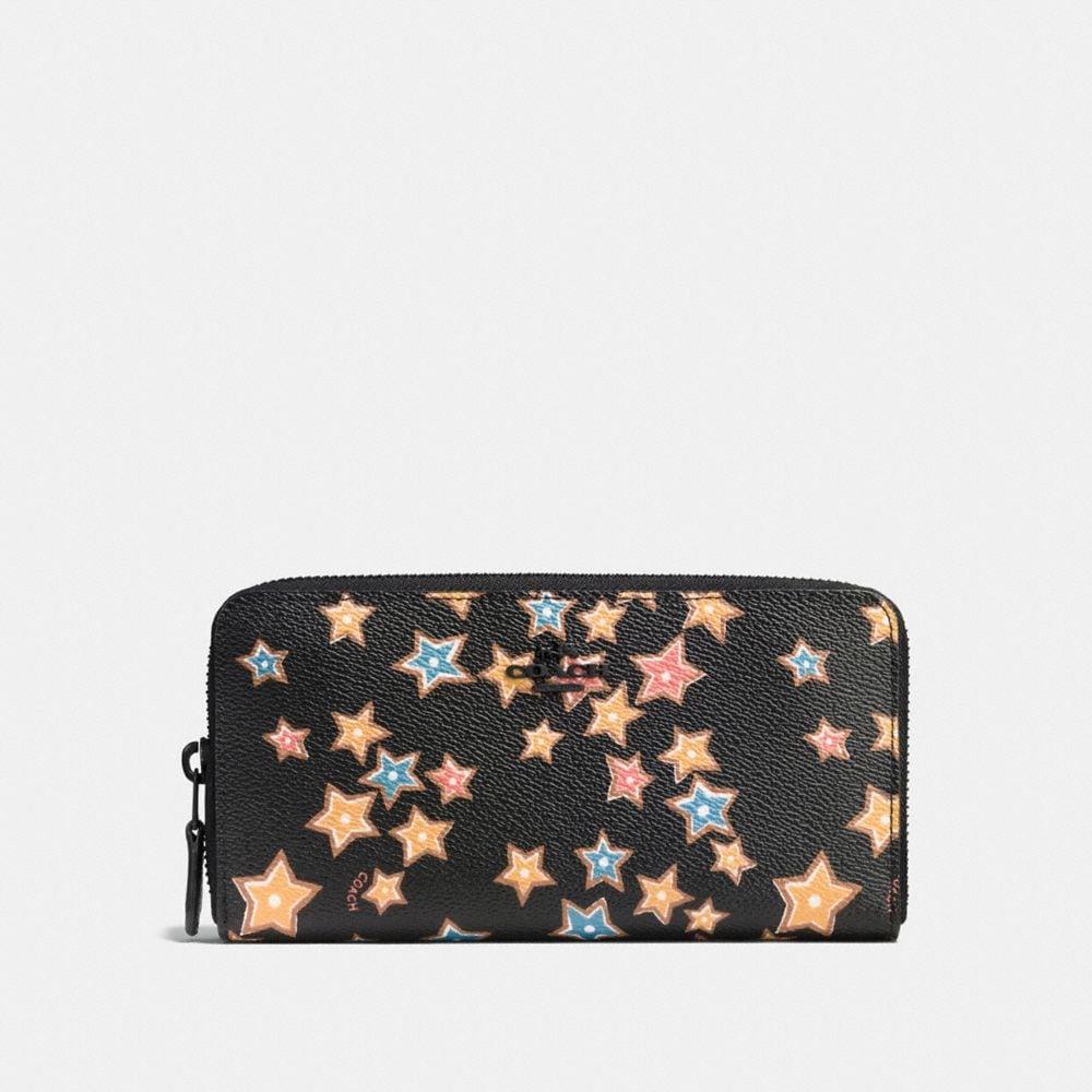 Coach Accordion Zip Wallet With Starlight Print