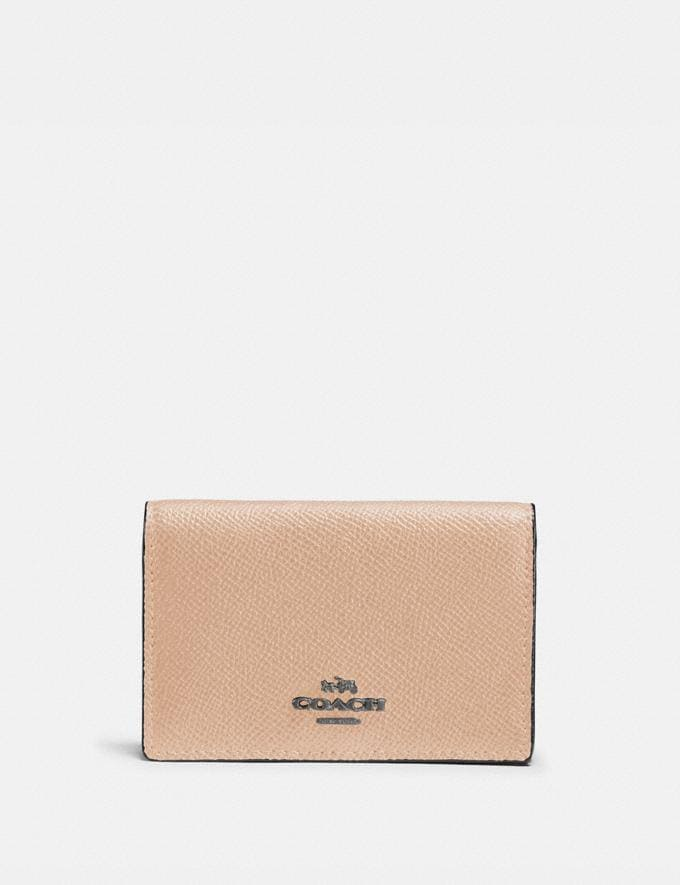 Coach Business Card Case Beechwood/Dark Gunmetal SALE Women's Sale