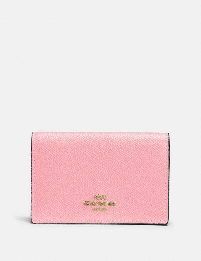 Coach Business Card Case Blossom/Gold New Featured Online Exclusives