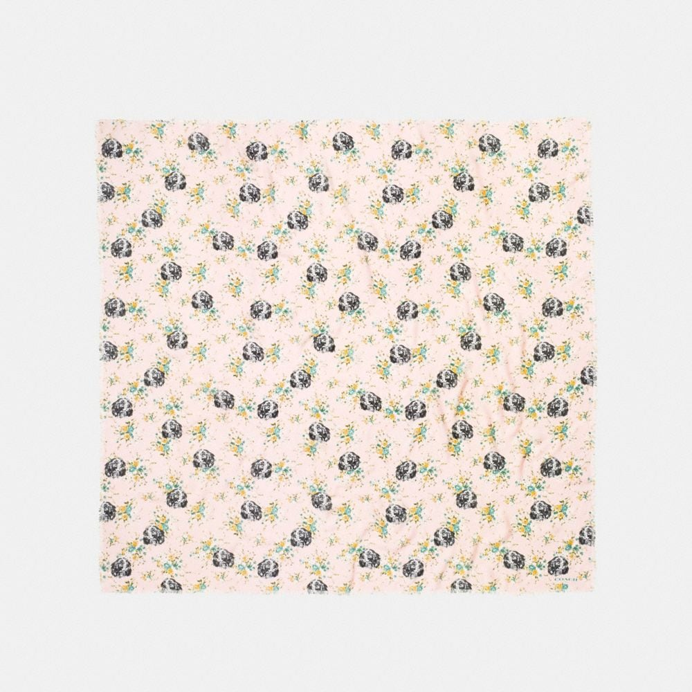 DOG FLOWER OVERSIZED SQUARE