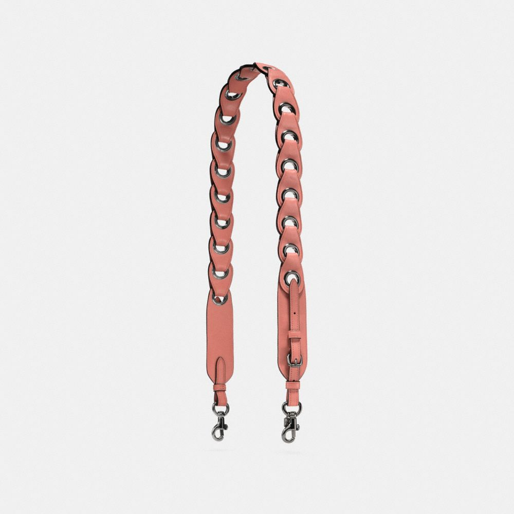 NOVELTY STRAP IN LINKED GLOVETANNED LEATHER