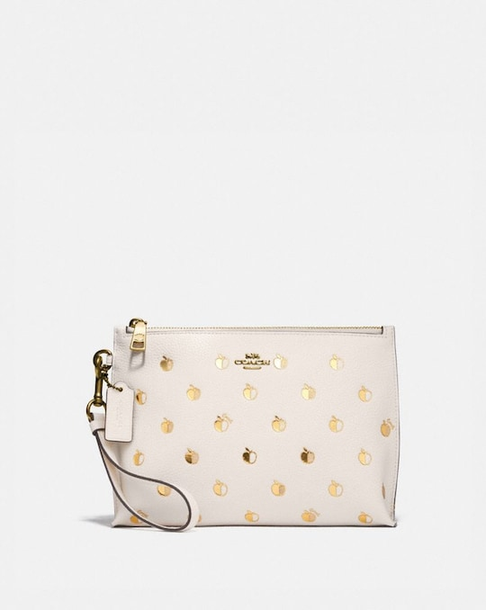 CHARLIE POUCH WITH APPLE PRINT