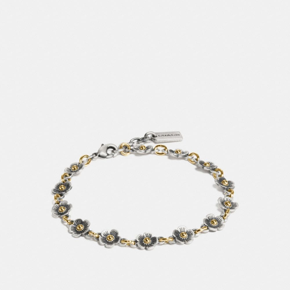 Coach Tea Rose Chain Bracelet