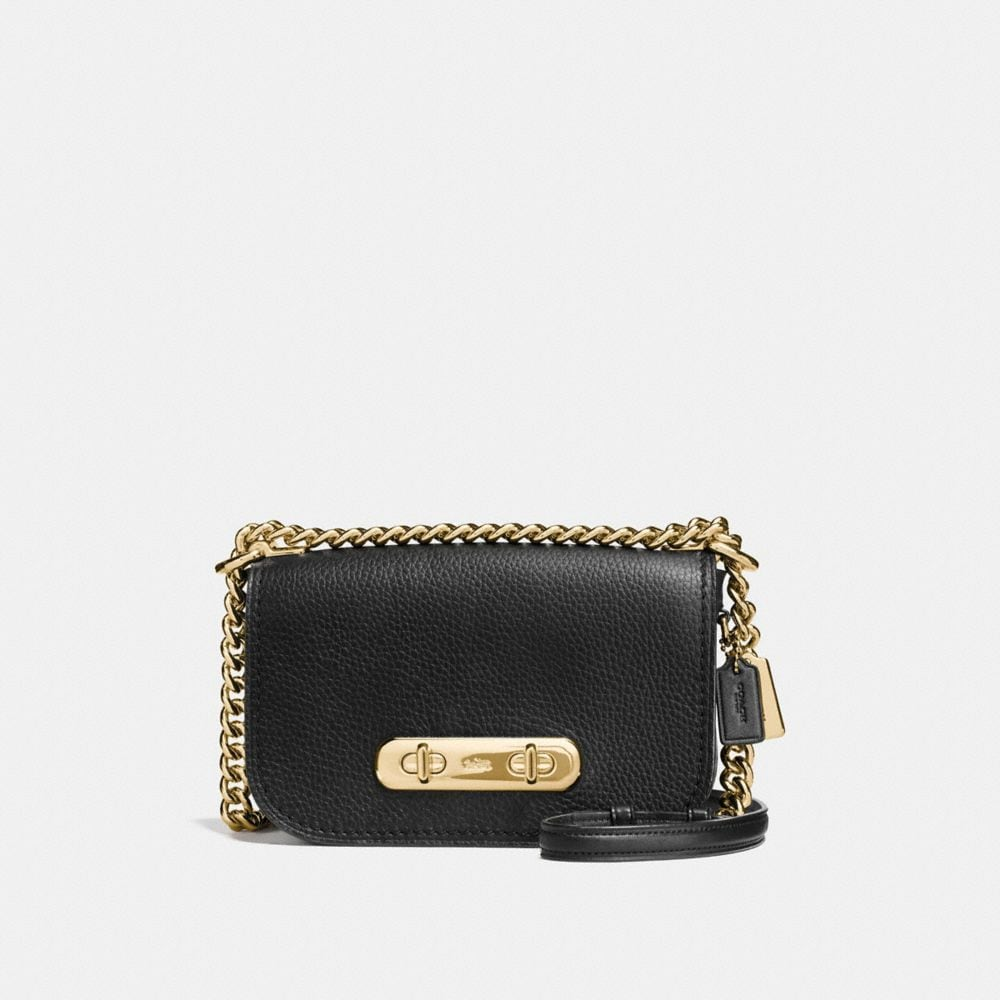 COACH SWAGGER SHOULDER BAG 20 IN PEBBLE LEATHER