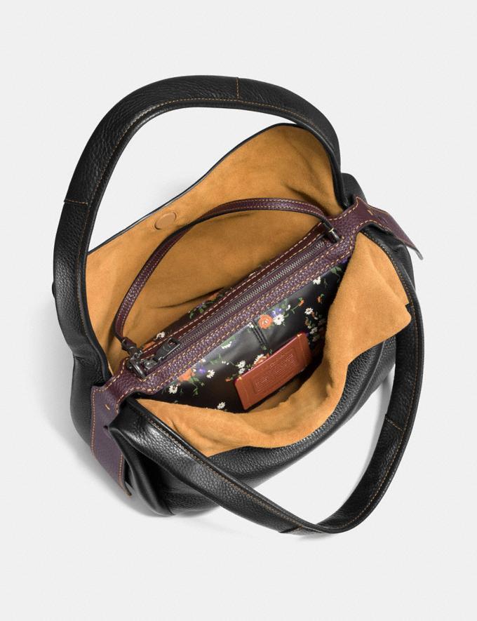 Coach Bandit Hobo Black/Black Copper Women Bags Shoulder Bags Alternate View 2
