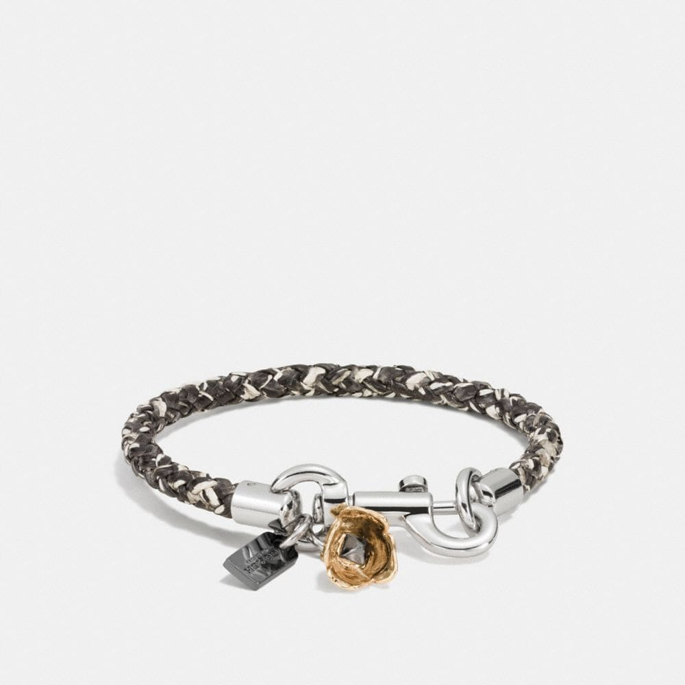 COACH CHARMS SNAKESKIN FRIENDSHIP BRACELET