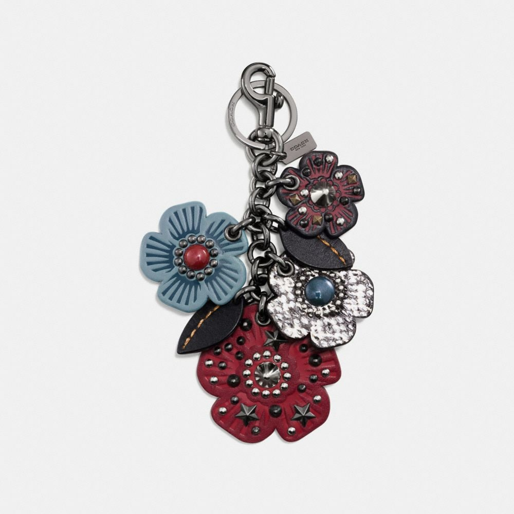 EXOTIC WILLOW FLORAL MIX BAG CHARM