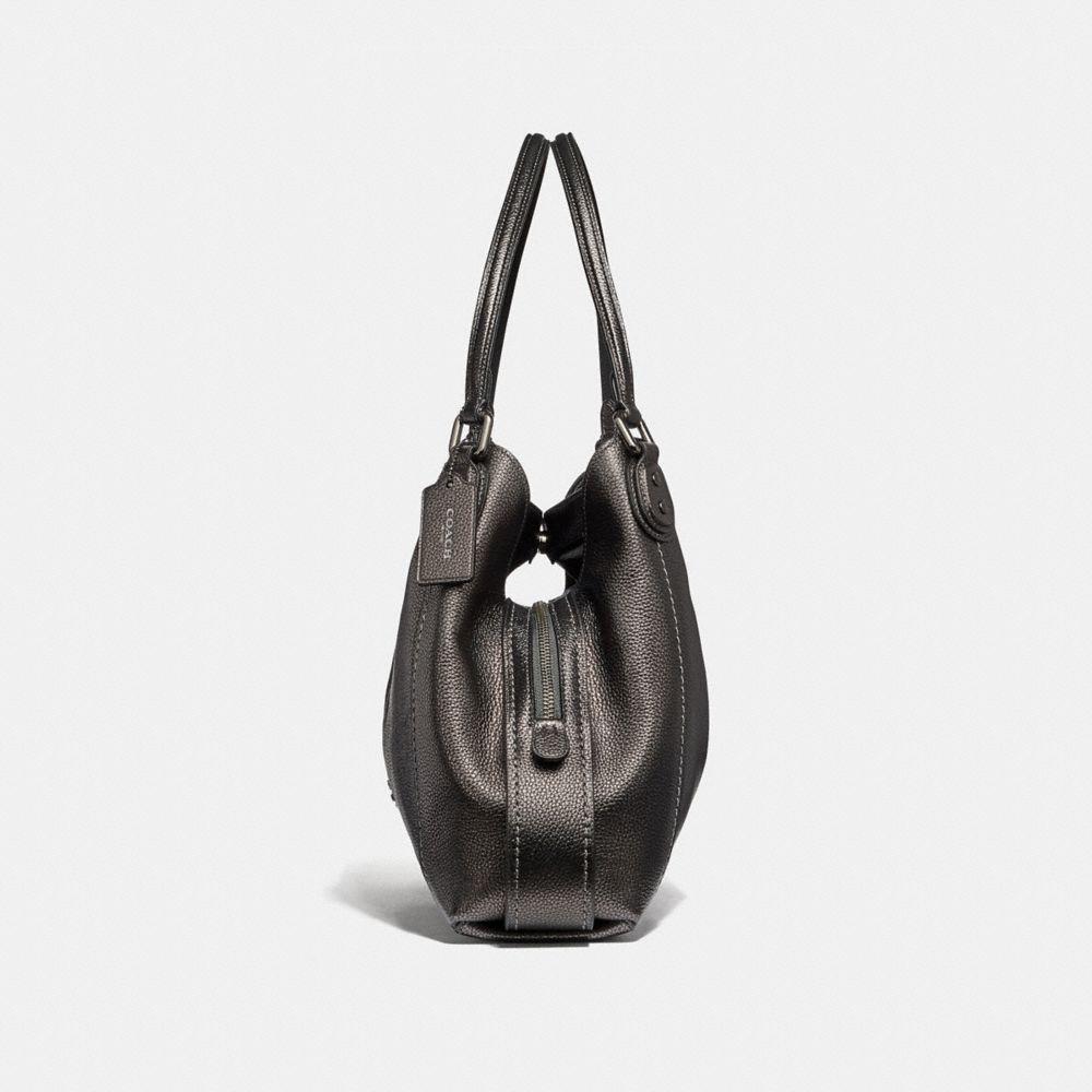 Coach Edie Shoulder Bag 31 in Metallic Leather Alternate View 1
