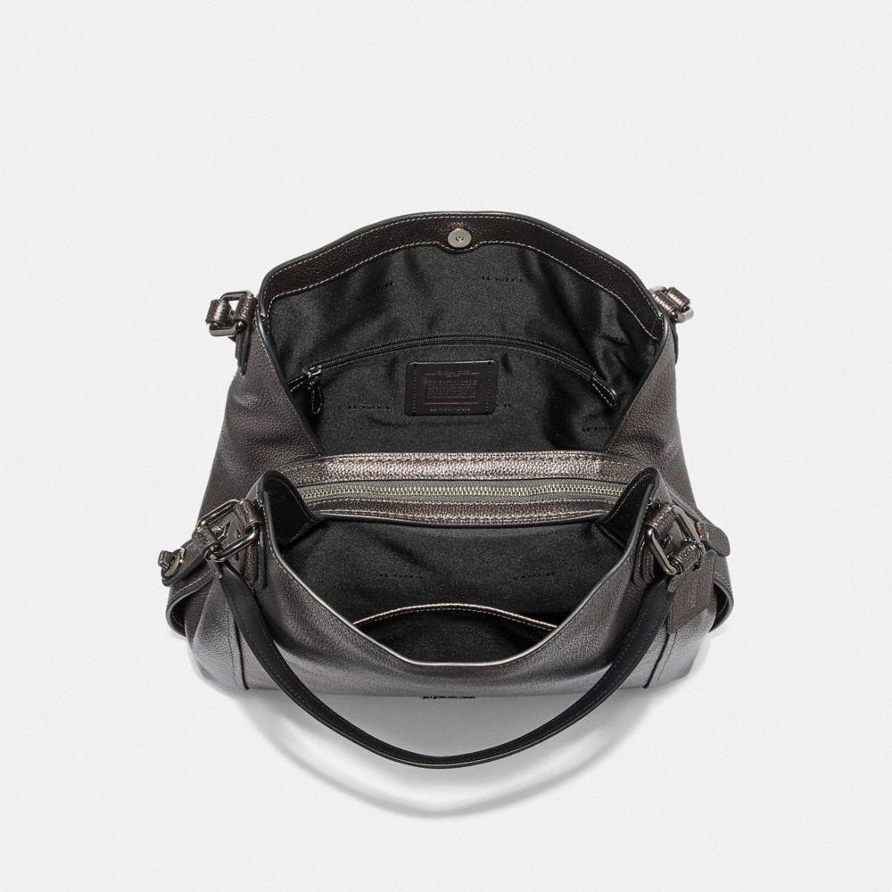 Edie Shoulder Bag 31 in Metallic Leather - Alternate View A2