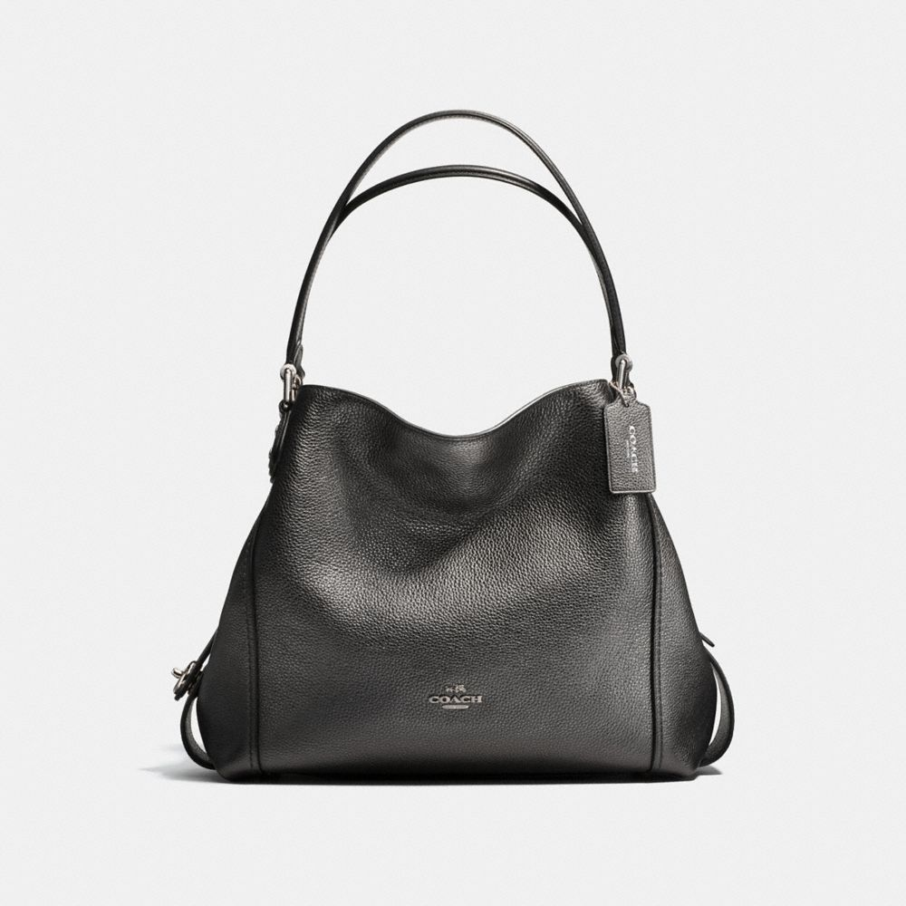 EDIE SHOULDER BAG 31 IN METALLIC LEATHER