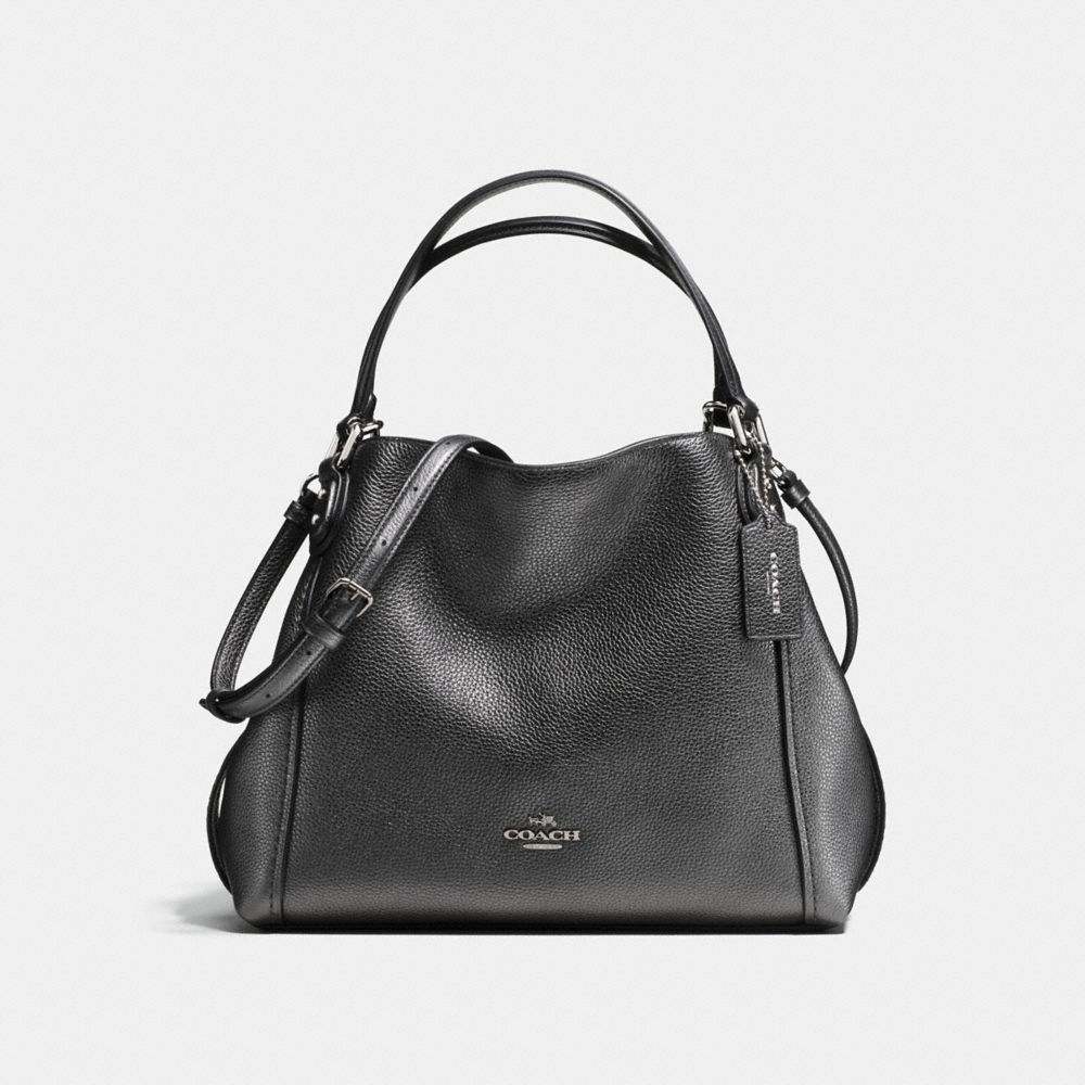 Tote - Edie 28 Shoulder Bag Metallic Graphite - black - Tote for ladies Coach Free Shipping With Paypal Prices Sale Online Clearance High Quality Sale Real 5bTfQDQ