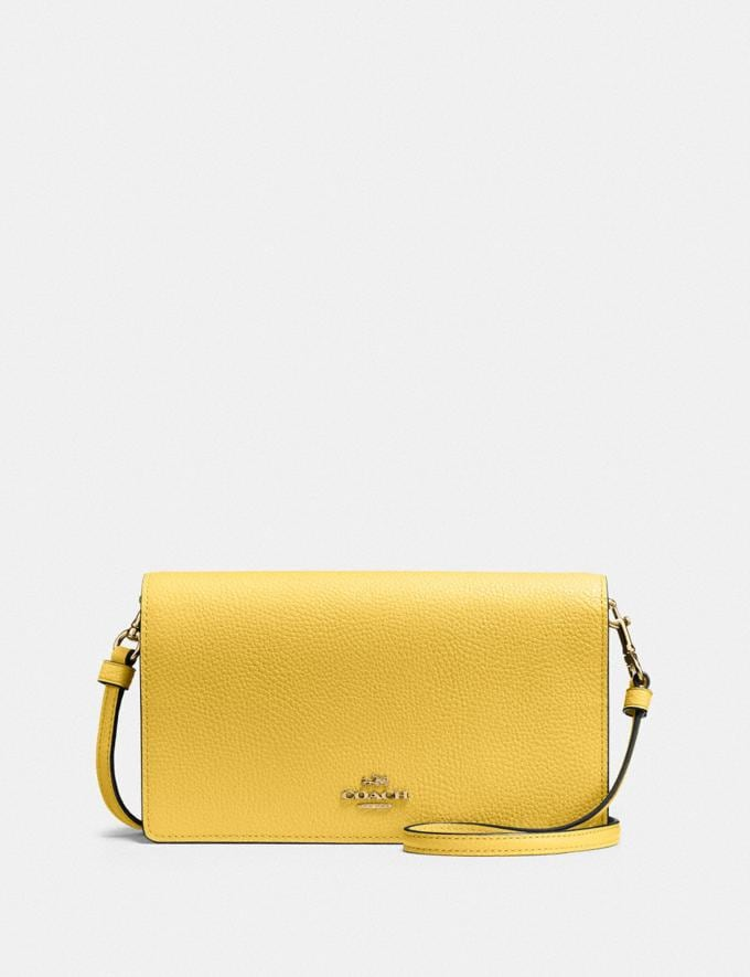Coach Hayden Foldover Crossbody Clutch Brass/Sunlight New Women's New Arrivals Bags