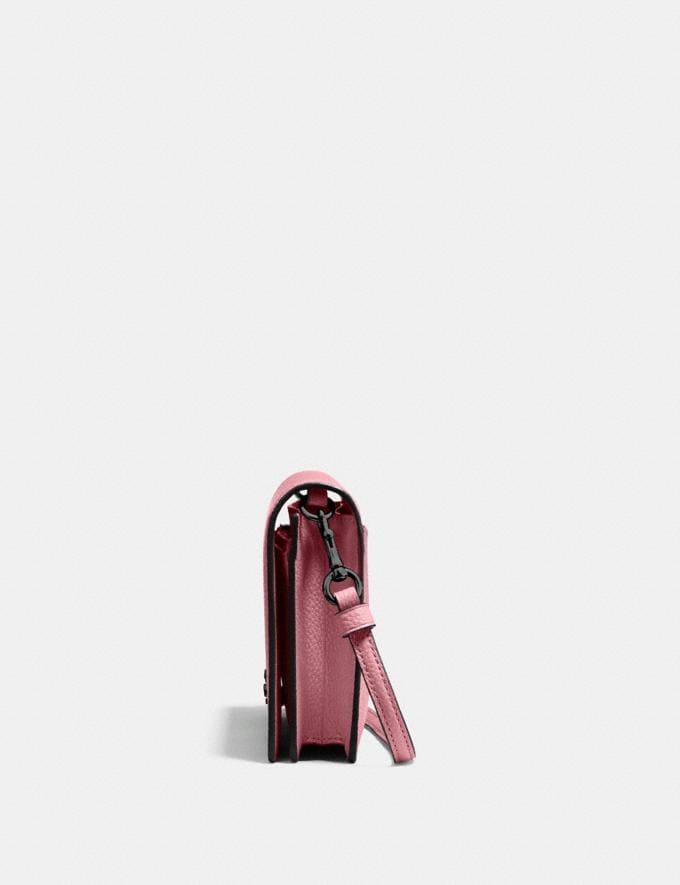 Coach Hayden Foldover Crossbody Clutch True Pink/Gunmetal Women Handbags Crossbody Bags Alternate View 1