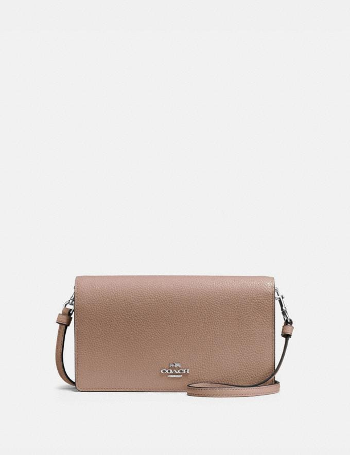 Coach Hayden Foldover Crossbody Clutch Light Nickel/Taupe Gifts For Her