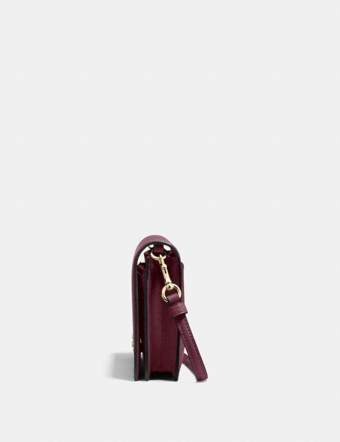 Coach Hayden Foldover Crossbody Clutch Oxblood/Light Gold Women Wallets & Wristlets Crossbody Wallets Alternate View 1