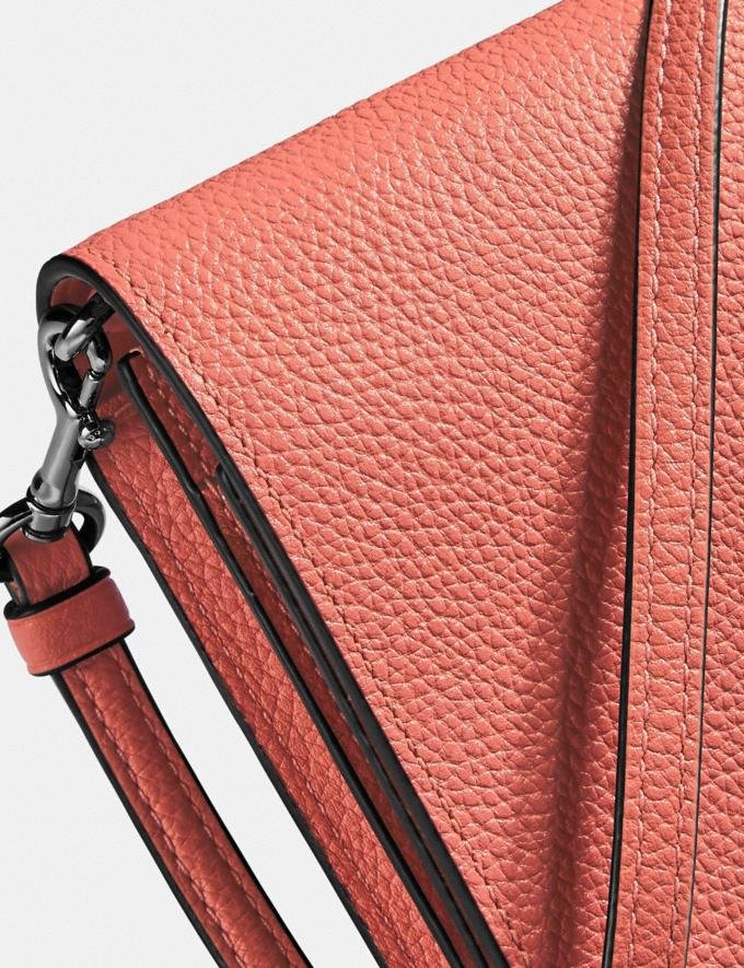 Coach Hayden Foldover Crossbody Clutch Bright Coral/Silver Women Bags Crossbody Bags Alternate View 4