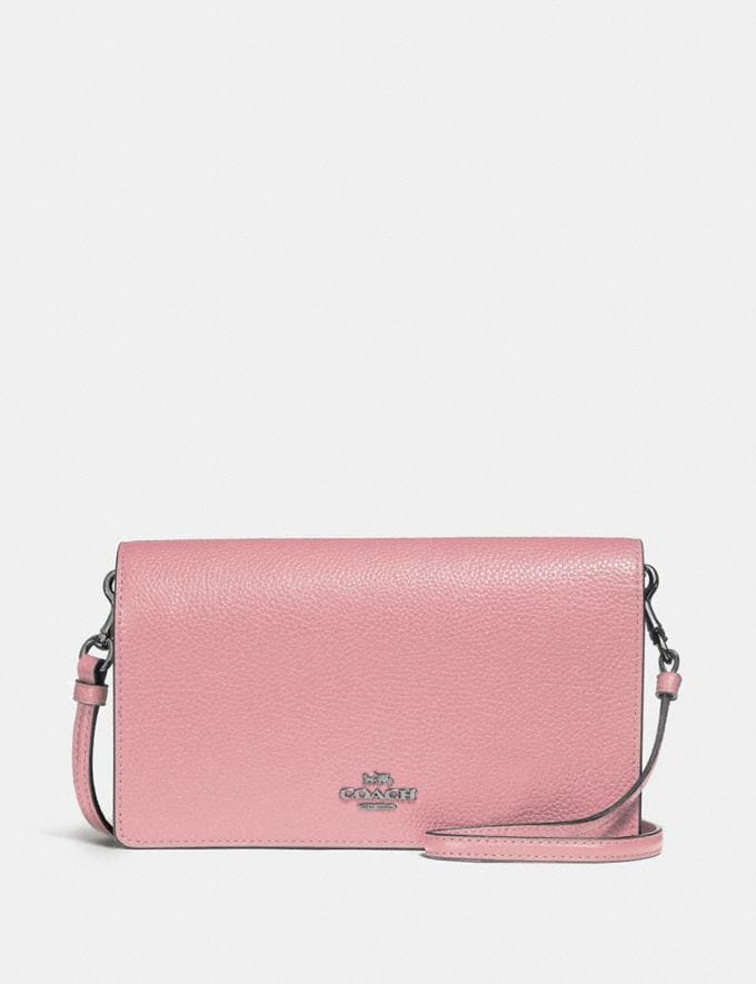 Coach Hayden Foldover Crossbody Clutch Light Blush/Silver New Featured Women New Top Picks