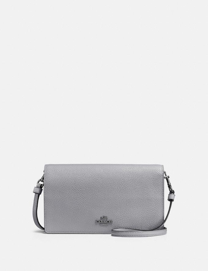 Coach Hayden Foldover Crossbody Clutch V5/Granite New Women's New Arrivals Small Leather Goods
