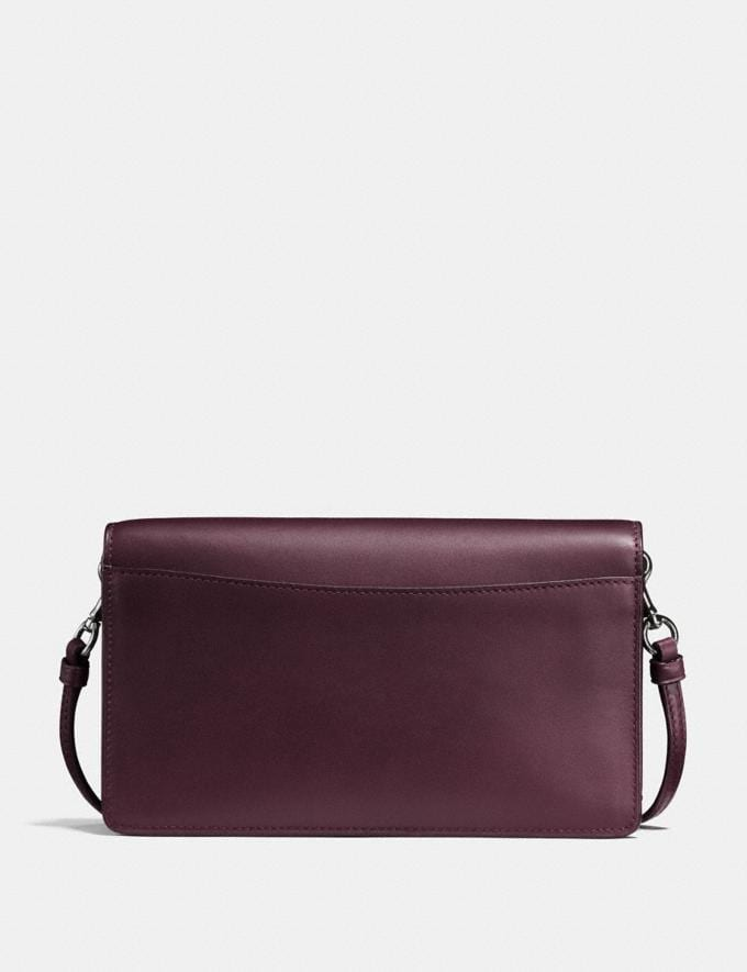 Coach Hayden Foldover Crossbody Clutch Oxblood/Dark Gunmetal Women Handbags Crossbody Bags Alternate View 1