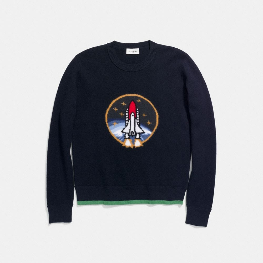 Coach Rocket Shuttle Intarsia Sweater Alternate View 1