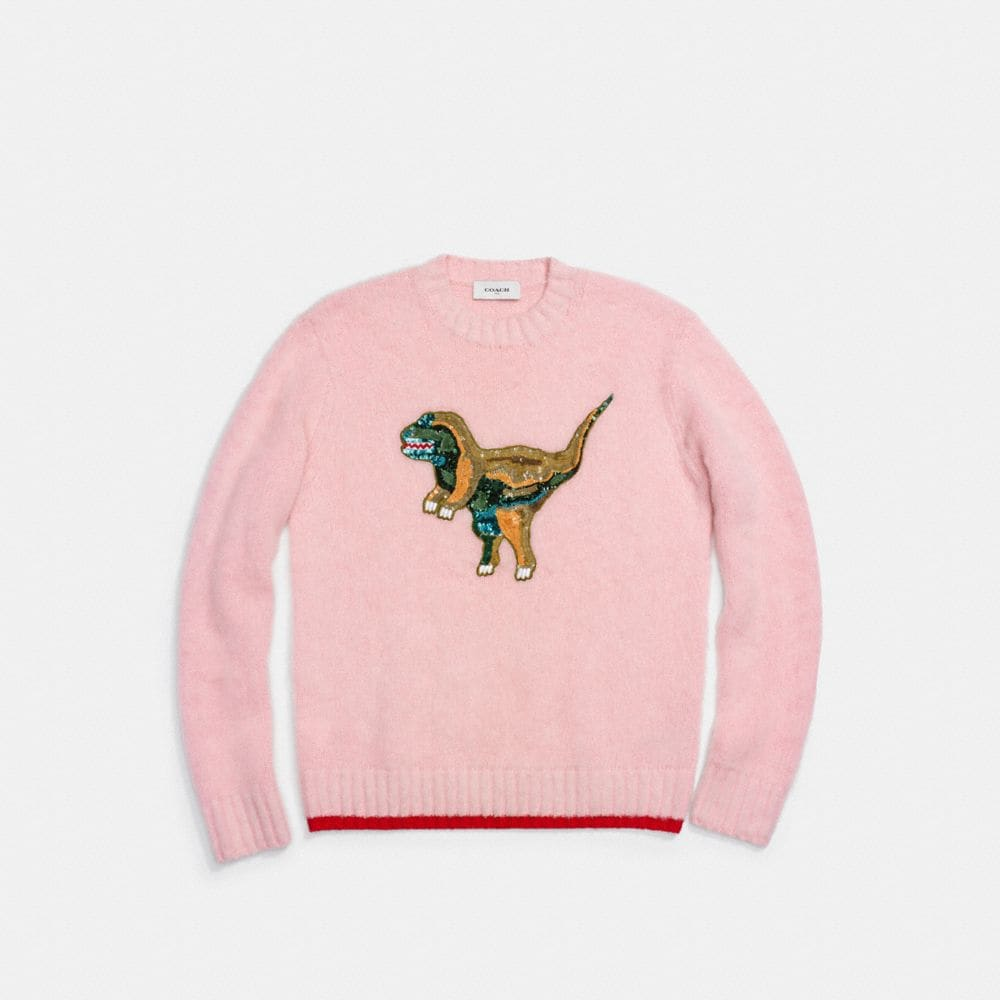 Coach Fluffy Embroidered Rexy Sweater Alternate View 1