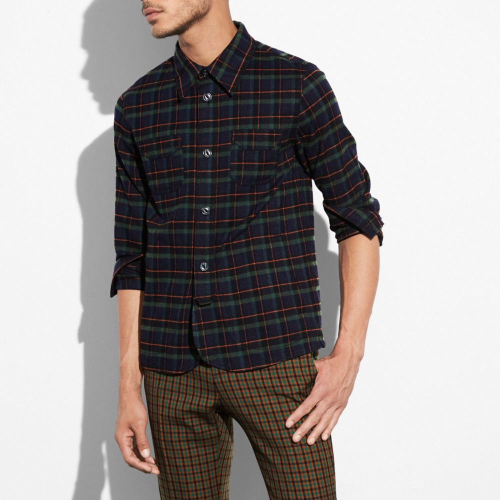 Coach Flannel Plaid Overshirt