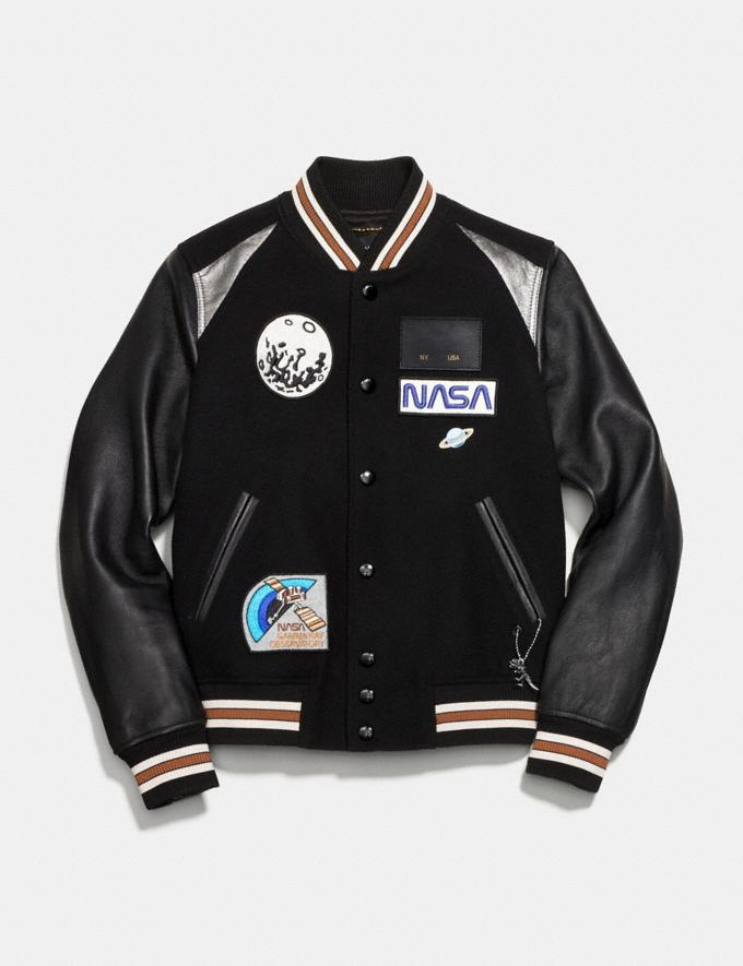 Coach Space Varsity Jacket Black