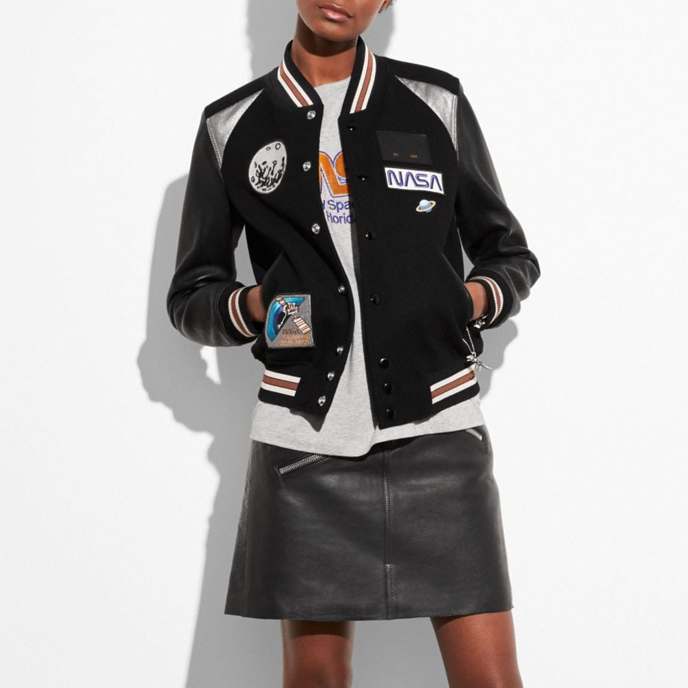 Coach Space Varsity Jacket Alternate View 1