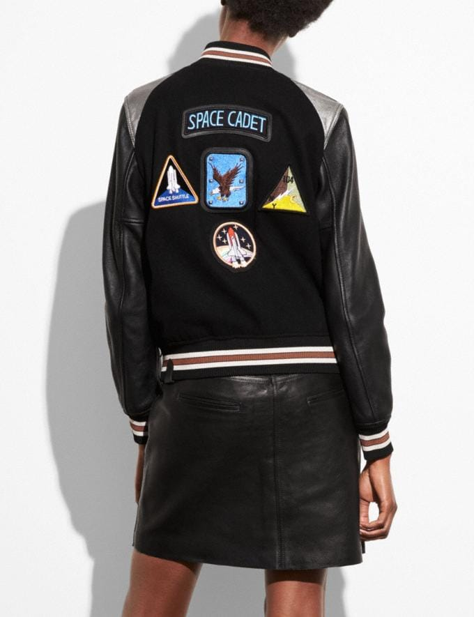 Coach Space Varsity Jacket Black  Alternate View 2