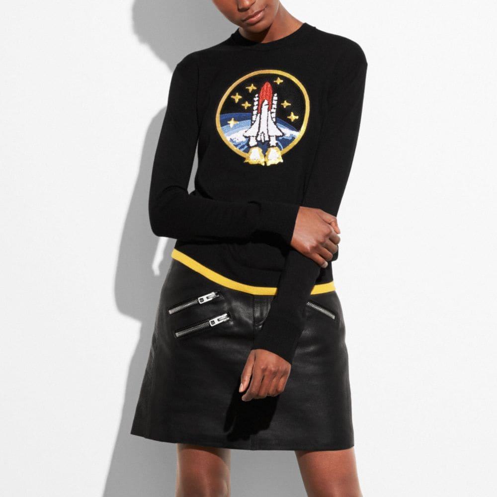 Coach Rocket Shuttle Crewneck Sweater
