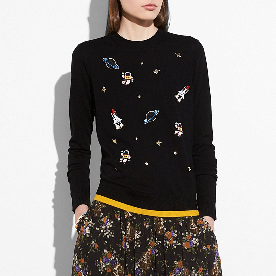 outerspace crewneck sweater | Tuggl
