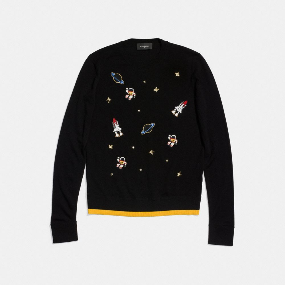 Coach Outerspace Crewneck Sweater Alternate View 1