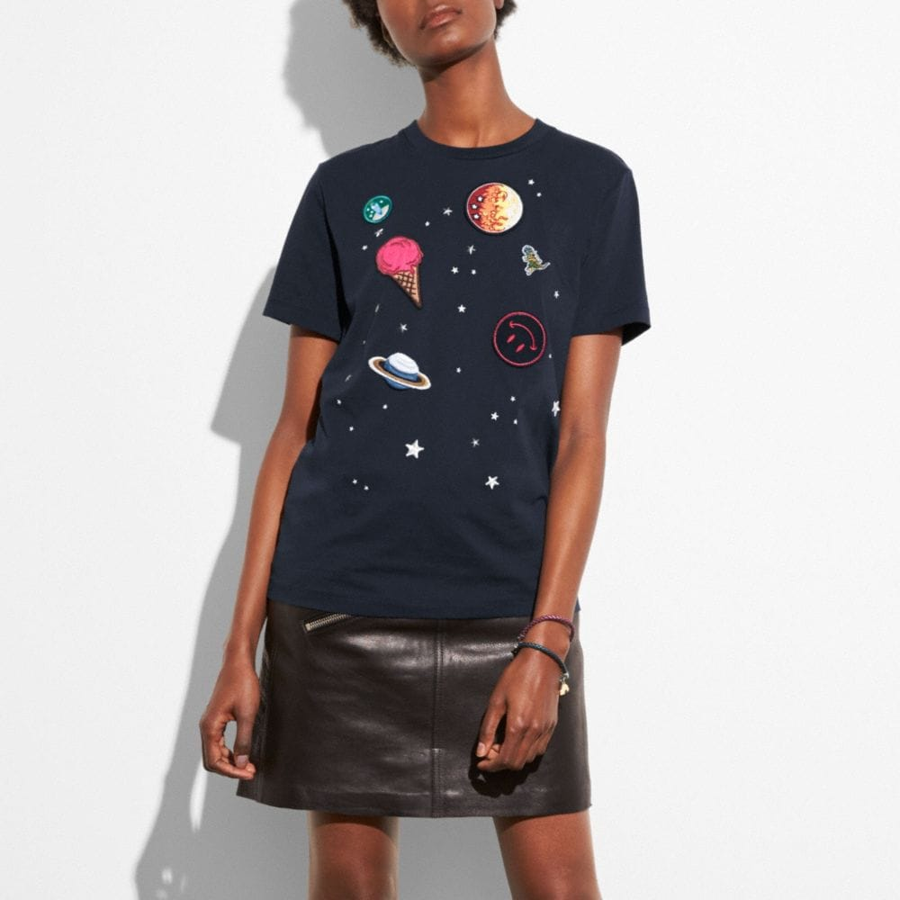 Coach Planet Embroidery T-Shirt