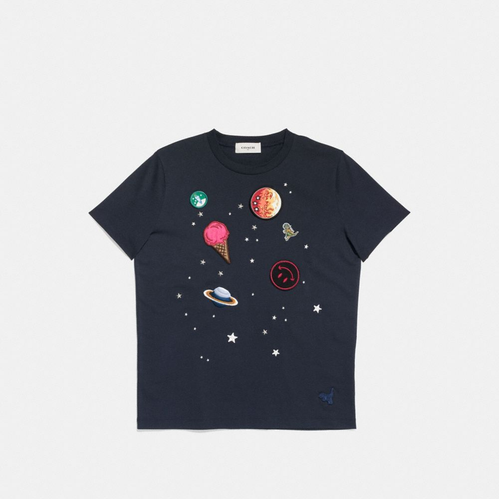 Coach Planet Embroidery T-Shirt Alternate View 1