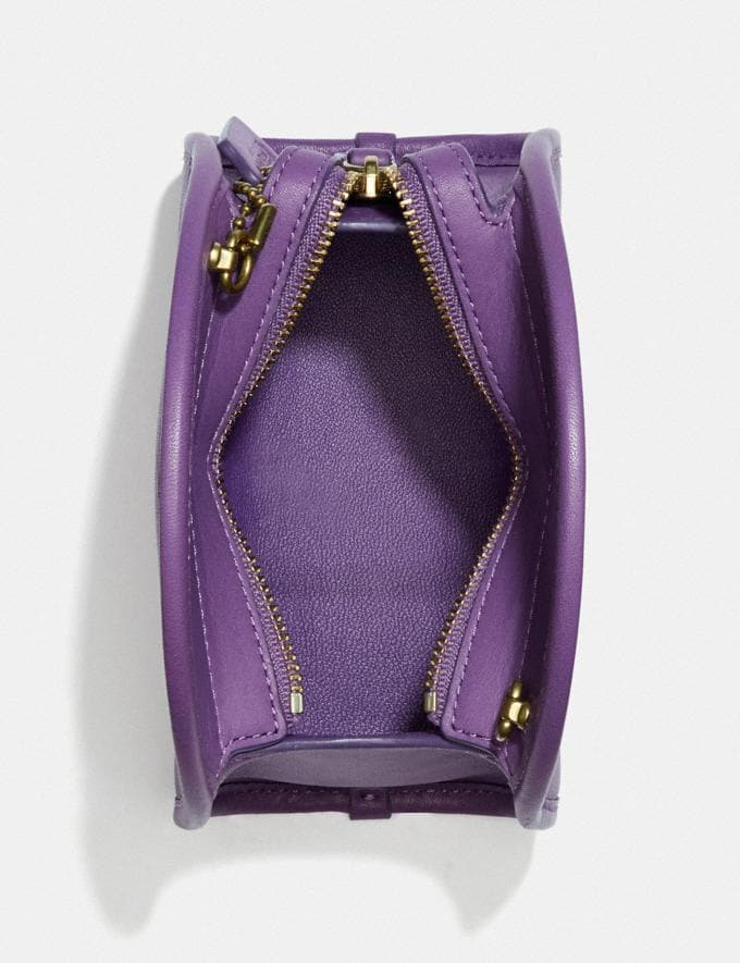 Coach Mini Half Moon Bag B4/Bright Violet Women Handbags Crossbody Bags Alternate View 2