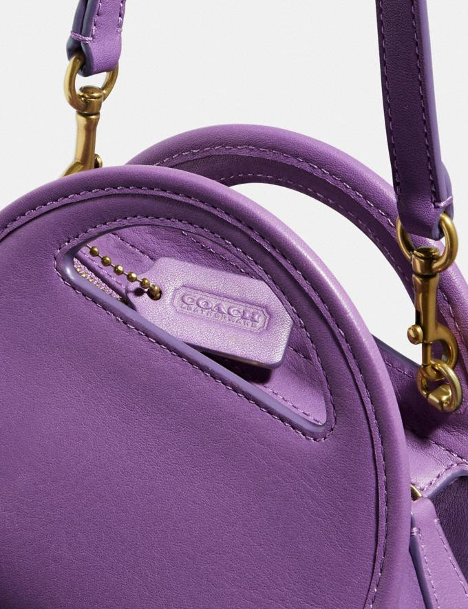 Coach Mini Half Moon Bag B4/Bright Violet Women Handbags Crossbody Bags Alternate View 4