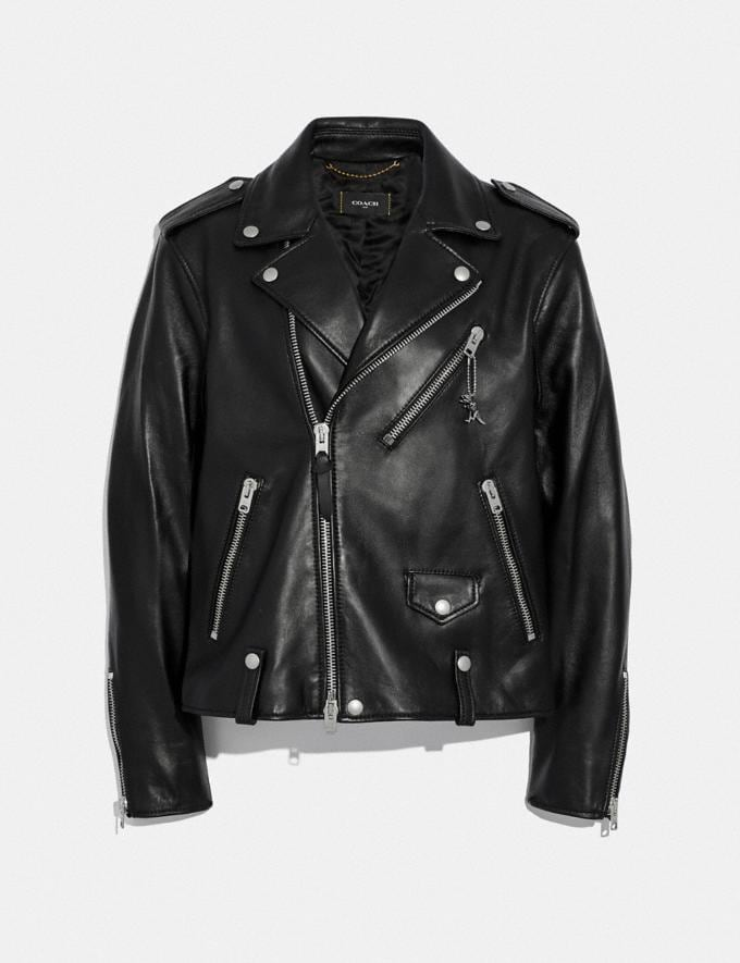 Coach Moto Jacket Black New Men's New Arrivals Ready-to-Wear