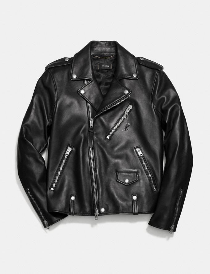 Coach Moto Jacket Black SALE Men's Sale