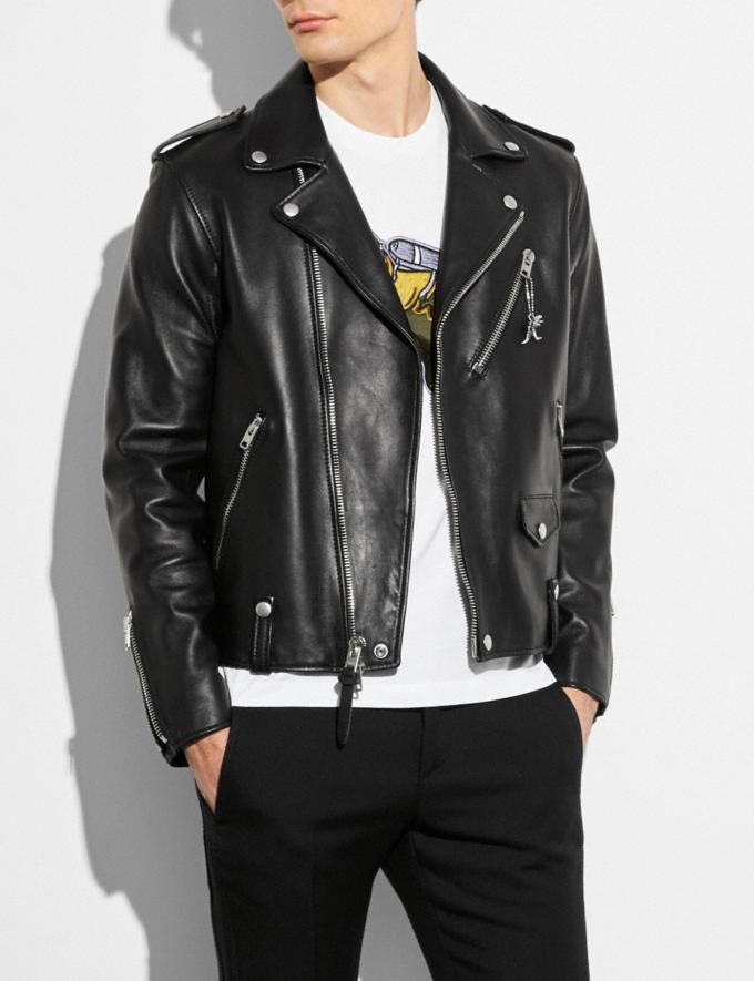 Coach Moto Jacket Black  Alternate View 1