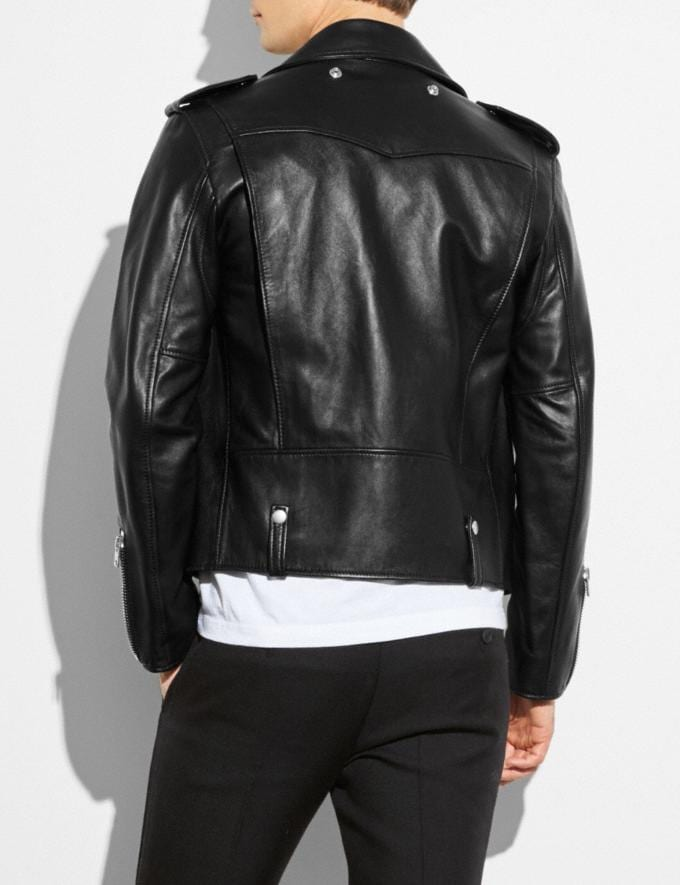 Coach Moto Jacket Black  Alternate View 2
