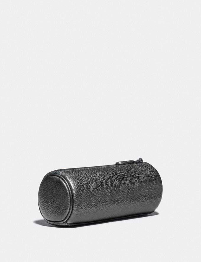Coach Brush Pouch 16 Gunmetal/Metallic Graphite New Women's New Arrivals Accessories Alternate View 1
