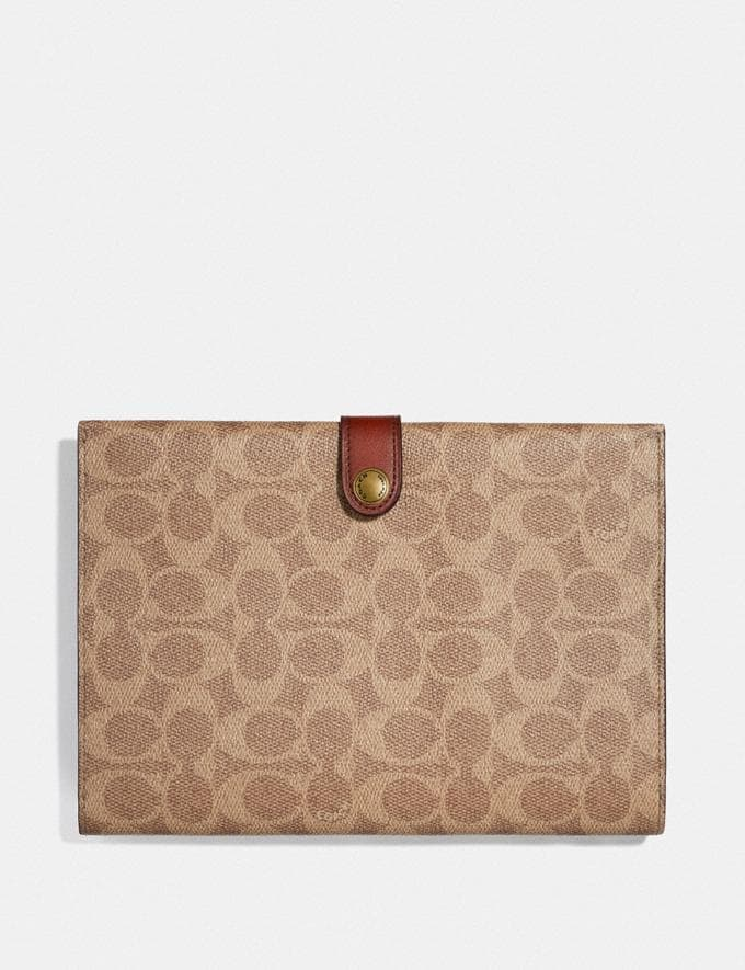 Coach Small Tech Case in Signature Canvas B4/Tan Deep Red New Featured Lunar New Year