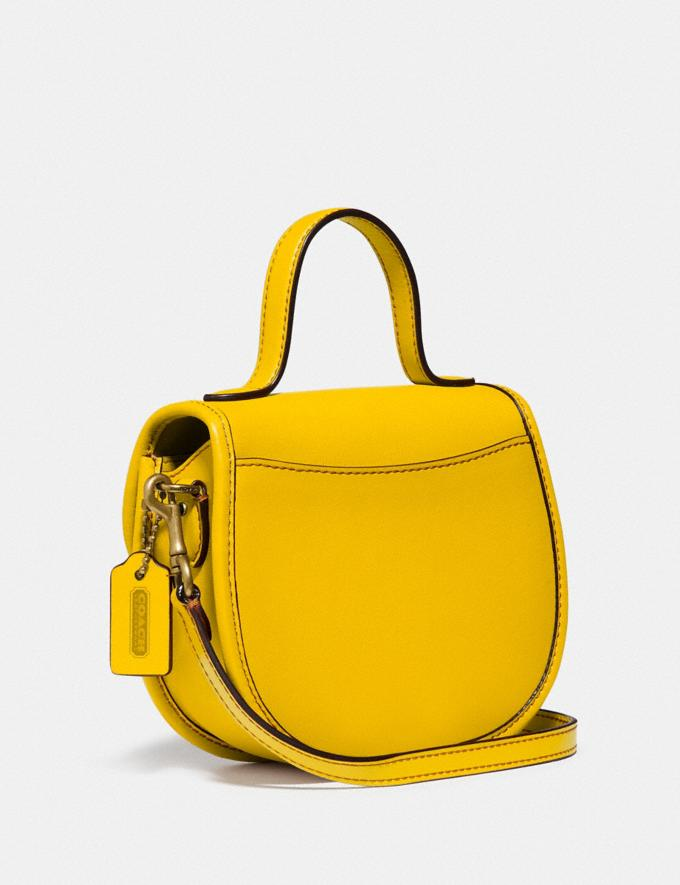 Coach Mini Top Handle Saddle Bag B4/Lemon New Featured Coach Pride Collection Alternate View 1